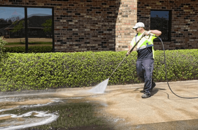 commercial concrete cleaning in newton